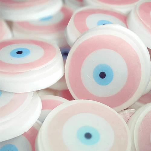Σαπούνι με ένθετη φωτογραφία και θέμα μάτι, για μπομπονιέρα βάπτισης ή δωράκι για παιδικό πάρτι.