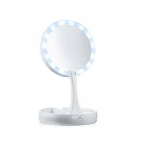 Διπλός Μεγεθυντικός Καθρέφτης αναδιπλούμενος με Φωτισμό LED