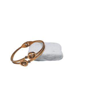 Ατσάλινη χειροπέδα Ρόζ - Χρυσό