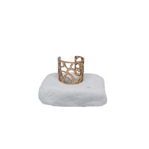 Ατσάλινο Δαχτυλίδι Ρόζ - Χρυσό