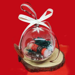 Lip Balm Φράουλα Χριστουγεννιάτικη Μπάλα