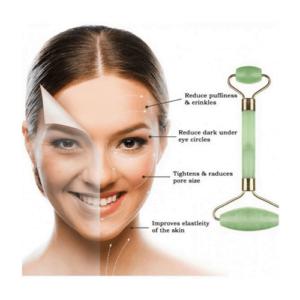 Jade Roller Face Massage - Ρολό Νεφρίτη για Μασάζ Προσώπου