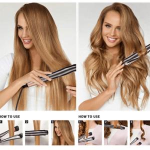 Κεραμικό Ηλεκτρικό Ψαλίδι για Μπούκλες & Ίσια Μαλλιά 2 σε 1