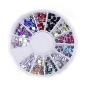 Καρουσέλ Στρασάκια Νυχιών σε διάφορα χρώματα